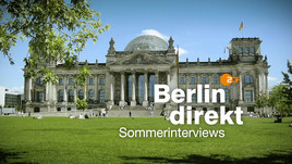 <br>Berlin direkt – Sommerinterviews<br>Copyright: ZDF/Corporate Design